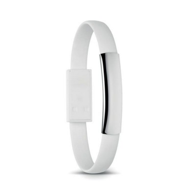 Picture of SILICON BRACELET CABLE with Micro USB in White