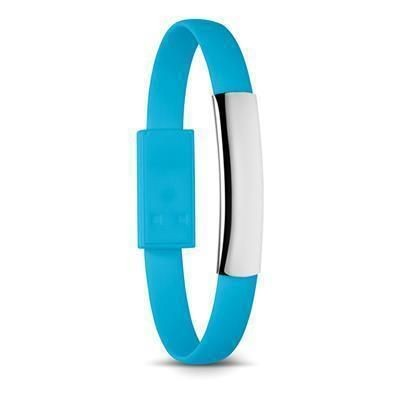 Picture of SILICON BRACELET CABLE with Micro USB in Turquoise