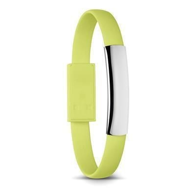 Picture of SILICON BRACELET CABLE with Micro USB in Lime