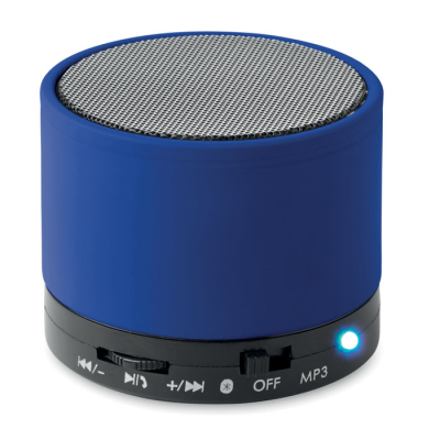 Picture of ROUND BLUETOOTH SPEAKER with Rubber Finish in Royal Blue