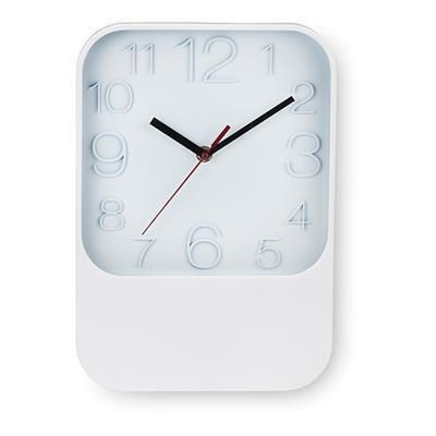 Picture of WALL CLOCK SQUARE in White