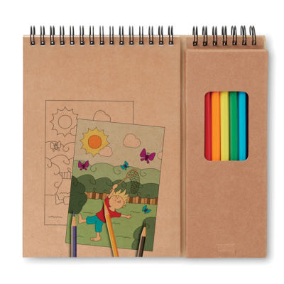 Picture of COLOURING SET with Note Pad