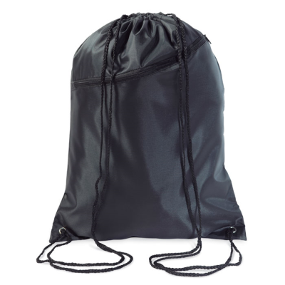 Picture of LARGE POLYESTER DRAWSTRING BAG in Black