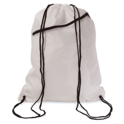Picture of LARGE POLYESTER DRAWSTRING BAG in White