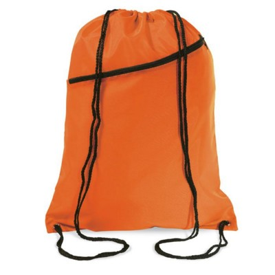 Picture of LARGE POLYESTER DRAWSTRING BAG in Orange