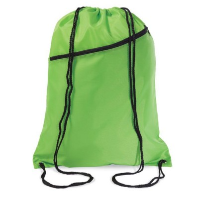 Picture of LARGE POLYESTER DRAWSTRING BAG in Lime