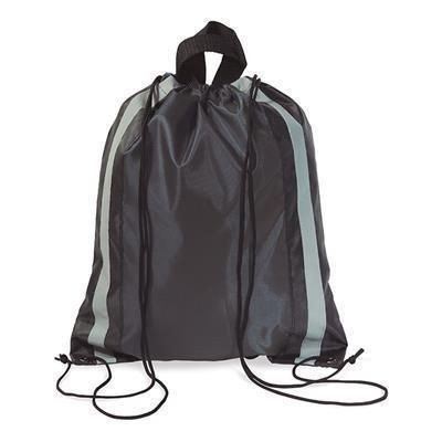 Picture of POLYESTER DRAWSTRING BAG in Black