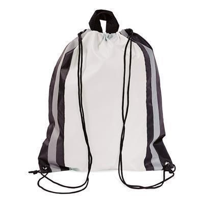 Picture of POLYESTER DRAWSTRING BAG in White