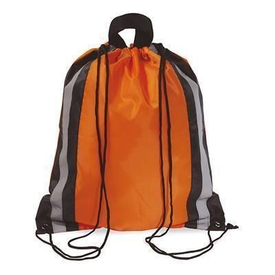 Picture of POLYESTER DRAWSTRING BAG in Orange
