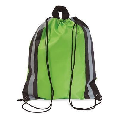 Picture of POLYESTER DRAWSTRING BAG in Lime