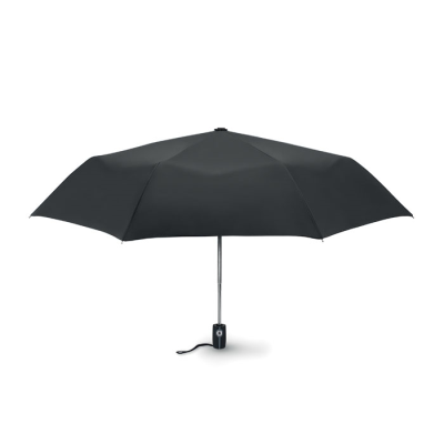 Picture of 21 INCH LUXE 3 FOLDING AUTOMATIC STORM UMBRELLA in Black