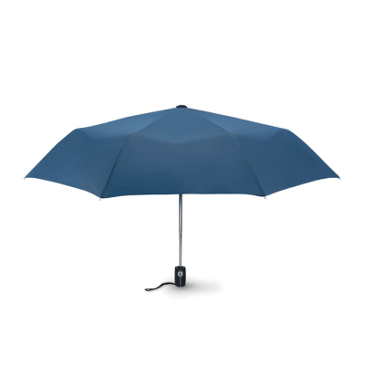 Picture of 21 INCH LUXE 3 FOLDING AUTOMATIC STORM UMBRELLA in Blue