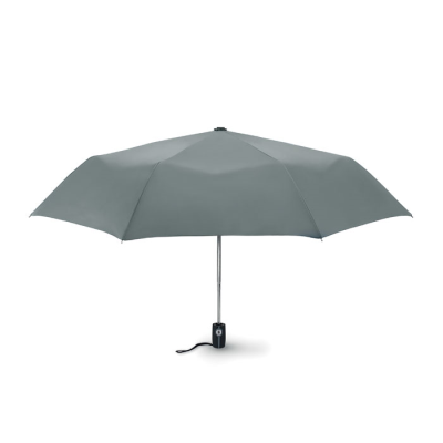 Picture of 21 INCH LUXE 3 FOLDING AUTOMATIC STORM UMBRELLA in Grey