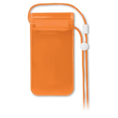Picture of MOBILE WATERPROOF POUCH in Clear Transparent Orange