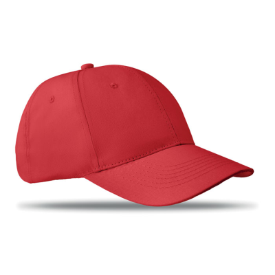 Picture of 6 PANEL STRUCTURED CAP in Red