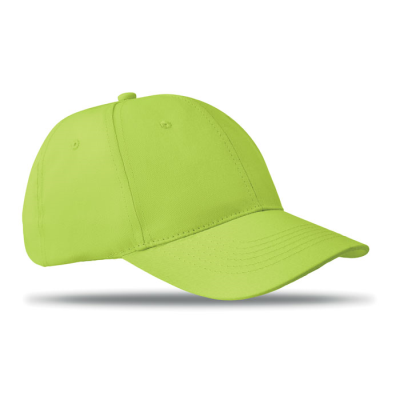 Picture of 6 PANEL STRUCTURED CAP in Lime