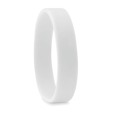 Picture of SILICON WRIST BAND in White