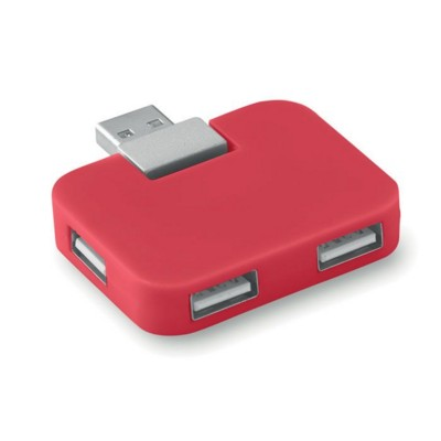 Picture of 4 PORT USB HUB in Red