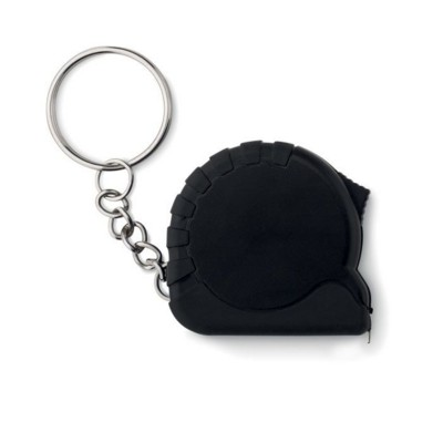Picture of SMALL MEASURING TAPE KEYRING in Black