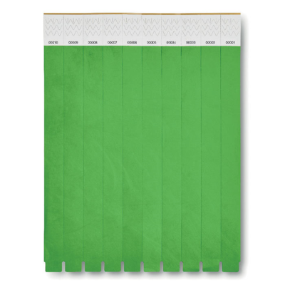 Picture of ONE SHEET OF 10 WRISTBANDS in Green