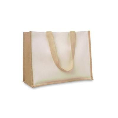 Picture of JUTE AND CANVAS SHOPPER TOTE BAG