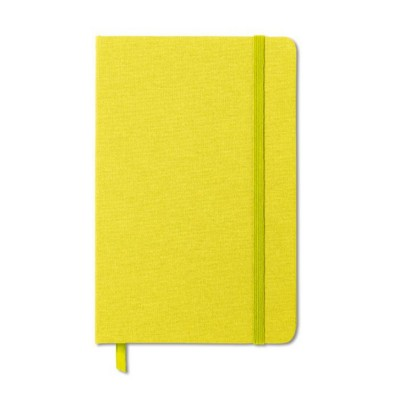 Picture of TWO TONE FABRIC COVER NOTE BOOK in LIme