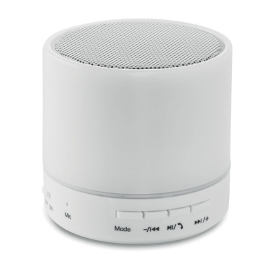 Picture of ROUND CORDLESS SPEAKER LED in White