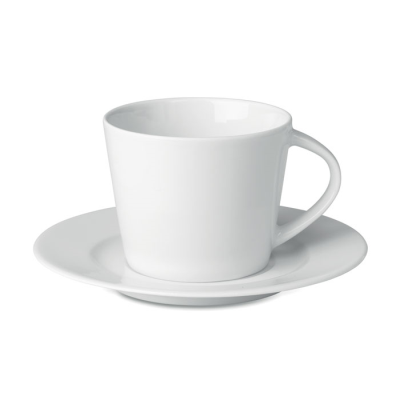 Picture of CAPPUCCINO CUP AND SAUCER in White