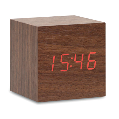 Picture of LED TIME DISPLAY ALARM CLOCK AND THERMOMETER DISPLAY in Mdf