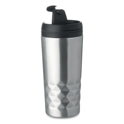 Picture of DOUBLE WALL STAINLESS STEEL METAL TRAVEL MUG