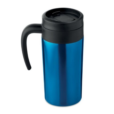 Picture of DOUBLE WALL STAINLESS STEEL METAL LEAK FREE MUG with Handle