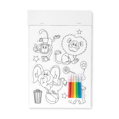 Picture of COLOURING MAGNETIC STICKER with 5 Markers