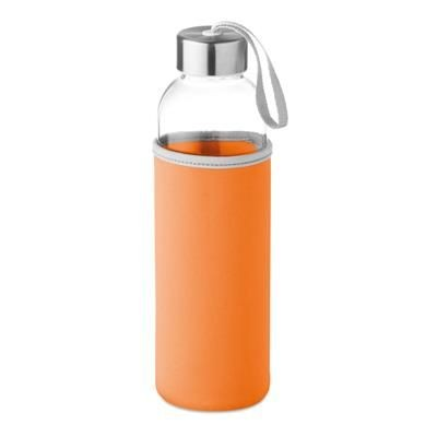 Picture of GLASS BOTTLE with Neoprene Pouch in 500 Ml