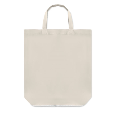 FOLDING SHOPPER TOTE BAG in 100gr-m² Cotton with Short Handles