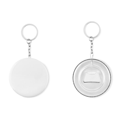 Picture of KEYRING PIN BUTTON AND BOTTLE OPENER with Paper Inlay