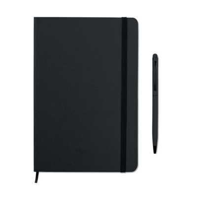 Picture of A5 NOTE BOOK SET INCLUDING STYLUS in Matching Colour