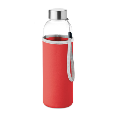 Picture of GLASS BOTTLE in Red
