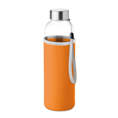 Picture of GLASS BOTTLE with Neoprene Pouch in 500ml