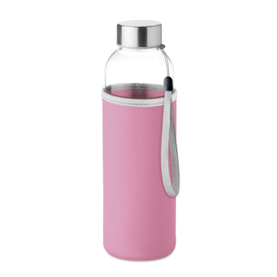 Picture of GLASS BOTTLE in Pink