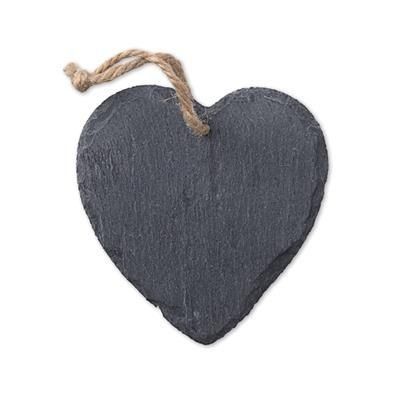 Picture of SLATE HEART SHAPE DECORATION with Cord Hanger