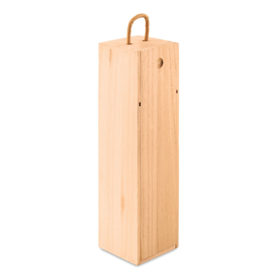 Picture of WINE BOX in Paulownia Wood with Cord Handle