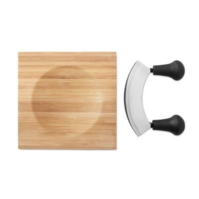 Picture of CHEESE OR HERB CHOPPING BOARD with Curve Blade Cutter