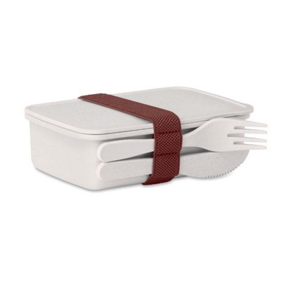 Picture of LUNCH BOX in Bamboo Fibre & PP in White