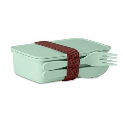 Picture of LUNCH BOX in Bamboo Fibre & PP in Green
