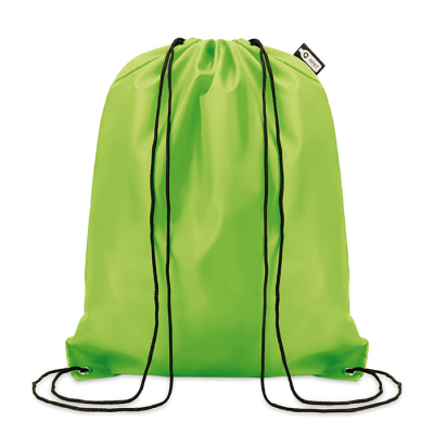 Picture of 190T RPET DRAWSTRING BAG in Lime