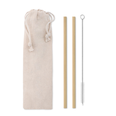 Picture of BAMBOO STRAW W & BRUSH in Pouch