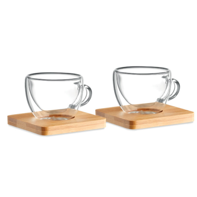 Picture of SET OF 2 DOUBLE WALL ESPRESSO