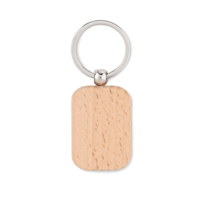 Picture of RECTANGULAR SHAPE WOOD KEYRING
