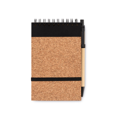 Picture of A6 CORK NOTE BOOK with Pen