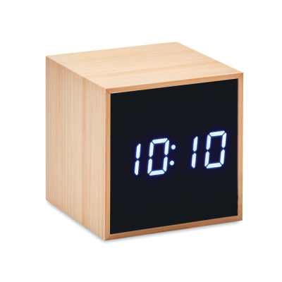 Picture of LED ALARM CLOCK BAMBOO CASING